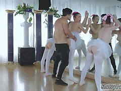 Teenager nascosta Ballerinas spy cam