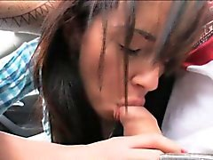 Skinny hitch hiking teen Gina Devine ripped in the car