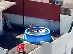 I Caught My Neighbors Fucking on the Rooftop.