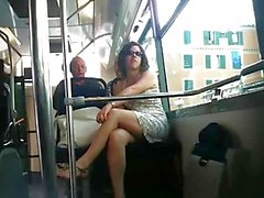 French upskirt Bus Nice