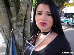 'Carne Del Mercado - Maria Del Rosario Big Tits Juicy Booty Latina Gets Picked Up And Fucked By Big Dick Stranger'