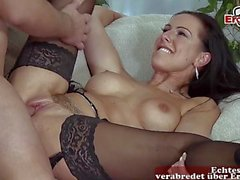 petite german skinny milf sedcues guy with big cock because she is horny