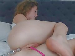 Caliente pelirroja Anal Toying Beads