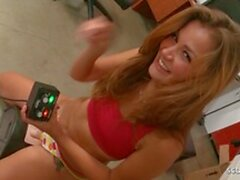 Cute Curvy Teen Allie Fuck after Real Intense Sybian Orgasm