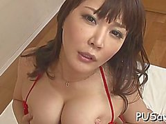 overwhelming japanese hinata komine enjoys snatch stretch