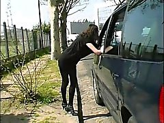 Ophelie analfucked in the street