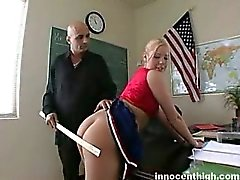 Big tited blonde cheerleader with pierced nipples gets