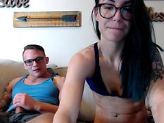 Brunette Femme Webcam Fellation Branlette Cumshot