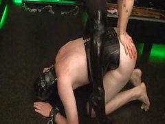 German redhead Mistress trains new slave to the whip part1