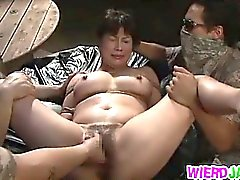 Superb Asian babes are having sex in the nature