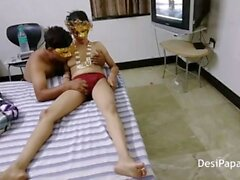 Indian Mature Couple In Hotel Room Filming Their XXX Tape
