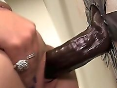 Big black cock rammed hoe facial
