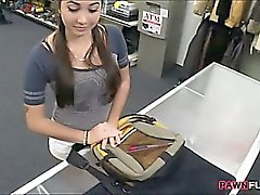 College girl pawns her twat and fucked by pawn man for money