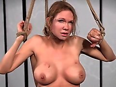 Flogged sub whore restrained and punished