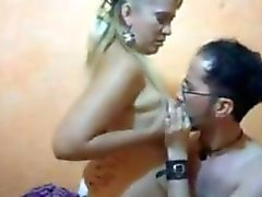 Blonde Latin Whore With Her Customer