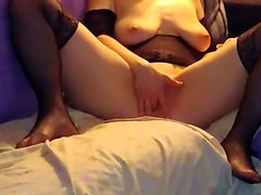 masturbation housewife Sarah with spread legs