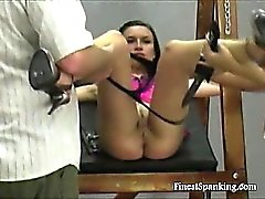 Terrie gets spanked like a dog