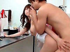 brutto ragazza asiatica baci uno horny guy sedevano part6