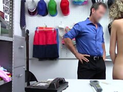 ShopLyfter - Skinny Teen Rammed By The Security Officer