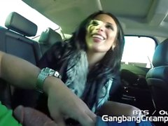 Behind the scenes with Anissa Kate, Blowing 5 guys, Shower, Car Roadhead