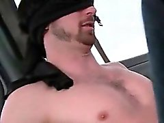 Redhead gay eating straight dick in the bus