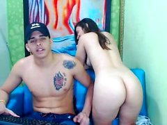 Teenager Amatoriale mostrando il suo asino in webcam