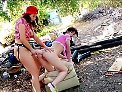 Bootylicious Chanel Preston and Alana Rains strapon sex