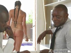 'Private Negro - caliente alemana Cougar de Tejas a Patti DP'd Por 2 Big Dick Negro