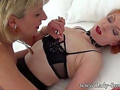 Lady Sonia first time ever Full Lesbian scene with Milf friend Red