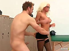 Busty rikc MILF Holly Price gets massively fucked in The locker room