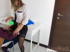 xcxx - Blonde POV Blowjob my Big Dick and Cum Swallow at the office