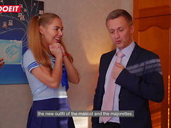 LETSDOEIT - Schoolgirl Diana Dali Threesome with BBC Janitor