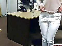 Sexy housewife stuffed by nasty pawn guy in the backroom