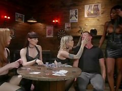 TS Biker Babes Gangbang on Lucky Muscle Stud