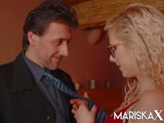 'MARISKAX Stunning blonde Tina gets fucked in the cabin'