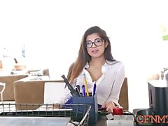 dazzling ava taylor blows love stick