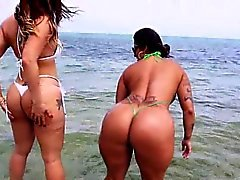 Two phat booty latina lesbian milfs Miss Raquel and Spicy J