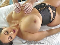 PUREMATURE Oiled Massage Fuck With Mature Porn Star Ava Addams