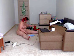 Nude, big-butty, cleaning