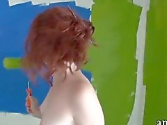 Skinny amateur redhead gfs first time anal sex on tape