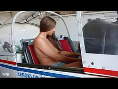 naked in airplane