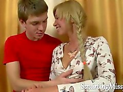 Blonde hot newbie gets seduced and stripped