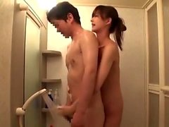 Japanese Office chick inside nylon Gives the Footjob