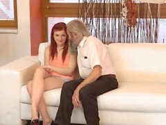 DADDY4K. Submissive redhead enjoys pussy fingering for...