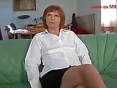 German mature casting