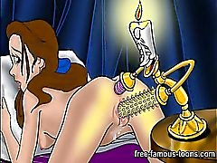 Anal masturbation and fucking of famous toons