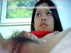 Cute young Filipino amateur teen Mary gets banged in her hairy bush