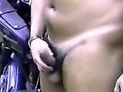 Officer Stroking His Cock
