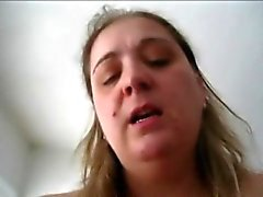 Horny BBW wife riding her hubby - POV